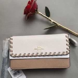 COACH |  Foldover Wristlet With Whipstitch